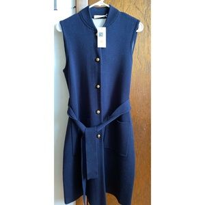 Tory Burch Long Wool Valerie Sweater Vest (S)